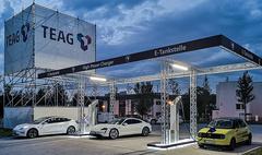 TEAG Campus in Erfurt mit HPC-Ladesystem von ADS-TEC Energy (Foto: TEAG)