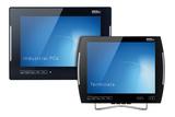 Highlights auf der SPS IPC Drives 2013: Die Industrial Panel PCs der OPC8000 Serie (li.) und Terminals der VMT8000 Serie (re.) mit Multi-Touch-Bedienung von ads-tec.